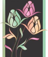 Creative rose flower