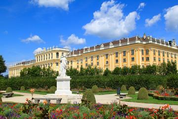 Poster de jardin Vienne UNESCO World Cultural Heritage: Schloss Schoenbrunn, Austria