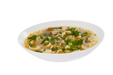 chicken noodle soup - broth