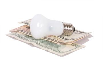 bulb on dollars