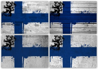 Finnish flag collage
