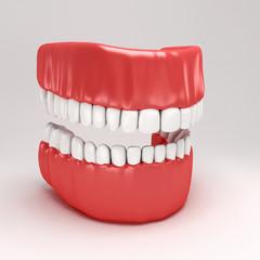 illustration of 3d image of human dental model