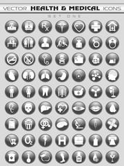 Medical icons set. EPS 10.