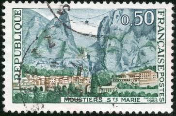 Stamp Moustiers S.te Marie