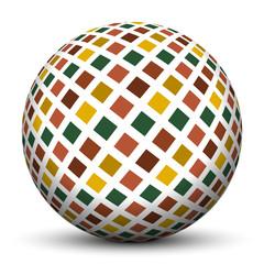 Kugel, 3D, Muster, Struktur, Quadrate, Textur, gekachelt, Sphere
