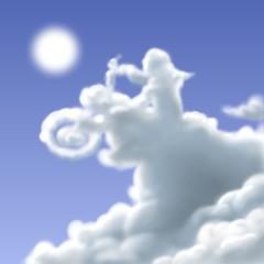 Wall Mural - nuvola biker