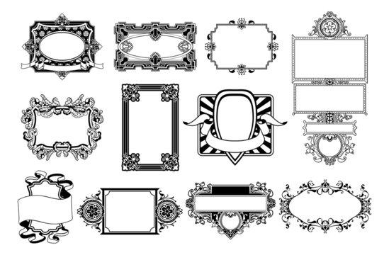 Ornate frame and border design elements
