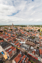 Aerial view of the Dutch town Delft