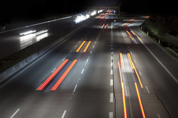 Printed roller blinds F1 traffic by night