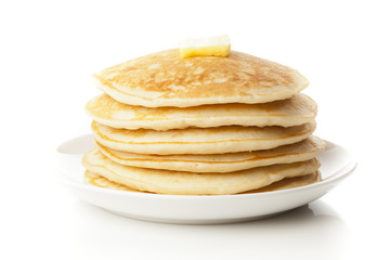 Fresh Homemade Pancakes with Syrup