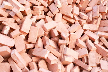 heap of red brick
