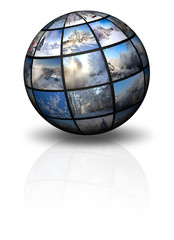 3d sphere with winter photos