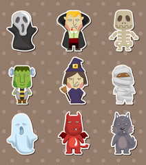 Cartoon Halloween monster  stickers