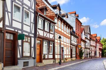 Wall Mural - Old street in Hildesheim