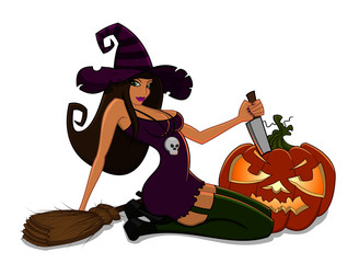 Halloween witch character