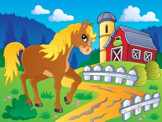 Foto op Canvas Pony Horse theme image 5