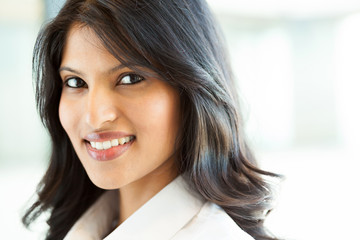 beautiful young indian businesswoman closeup