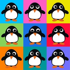 seamless penguin pattern background