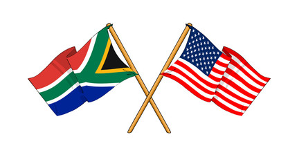 America and South Africa alliance and friendship