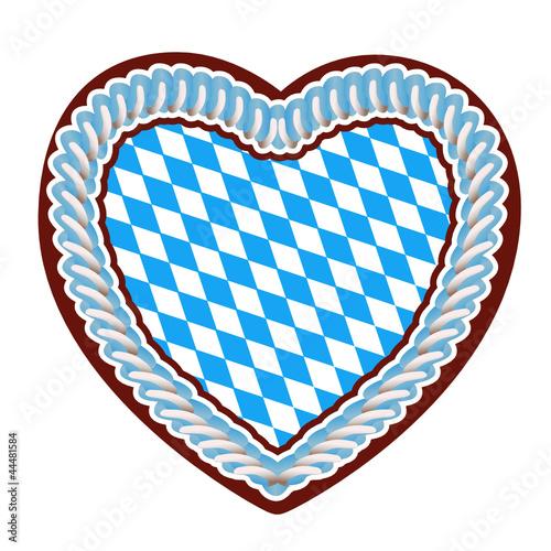 """""""Lebkuchenherz mit bayrischer Flagge"""" Stockfotos und ..."""