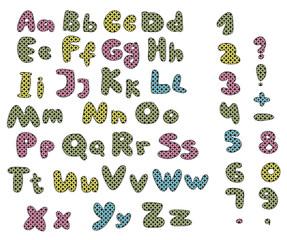 colorful patchwork alphabet