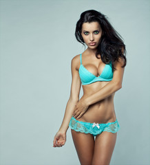 Young sexy brunette woman