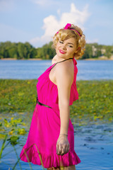 beauty young pin-up woman