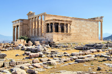 Erechtheion with Porch of the Caryatids, Athens, Greece