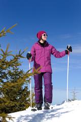 winter woman ski