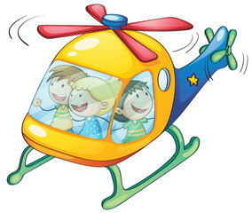 kids in a helicopter