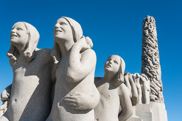 Vigeland Statue girls