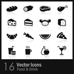 16 Food & Drink Icons