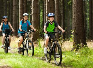 Aluminium Prints Cycling Family biking