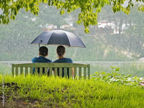 девушка зонт дождь природа  № 3582381 бесплатно