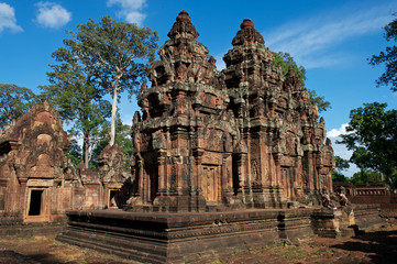 Pagode im Banteay Srei Tempel, Kambodscha
