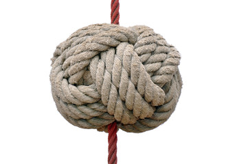 Knoten an Seil - freigestellt