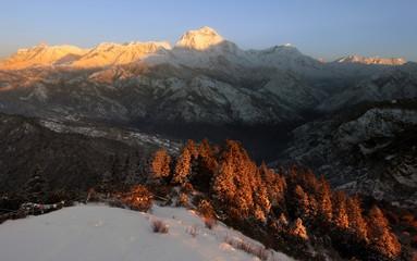 Himalayan Poon Hill Winter scenem- Nepal