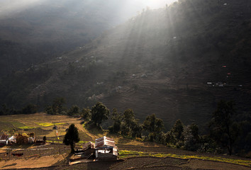 Morning glow over Himalayan Farm