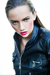 pretty brunet beauty portrait