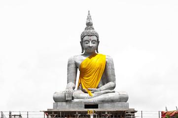 Buddha statue White background