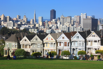 Photo sur Plexiglas San Francisco San Francisco - Alamo park et les painted ladies
