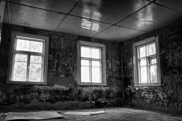 Dark Grungy Abandoned Room