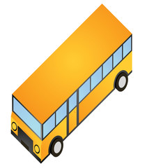 isometric bus school