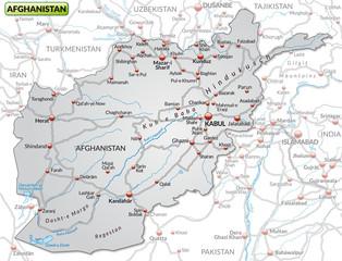 Karte Iran Nachbarlander.Karte Von Afghanistan Und Nachbarstaaten Buy This Stock