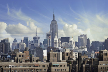 Fototapete - Stormy Sky over New York City