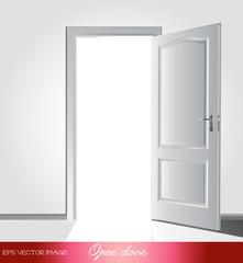 eps Vector image: Open door