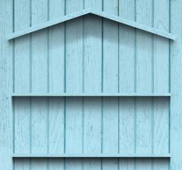 Vintage wood shelf house shape