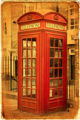 British red telephone booths, London