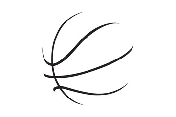 A silhouette of a basketball