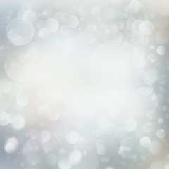 Light winter style abstract Christmas background with snowflakes